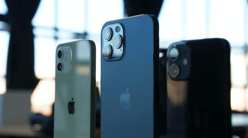 Photo de l'iPhone 12 Pro Max, l'iPhone 12 Pro et l'iPhone 12 mini