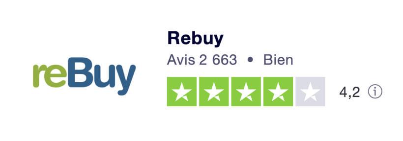 Avis Client Trustpilot de la société Rebuy