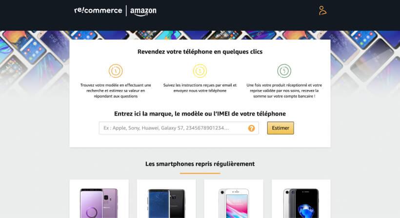Page de la reprise par Amazon