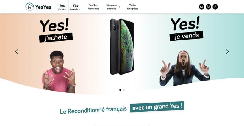 Page d'accueil de YesYes